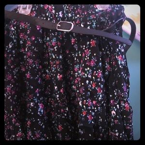 Torrid floral skirt with belt